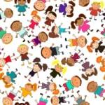 different_happy_kids_design_vector_graphic_523349